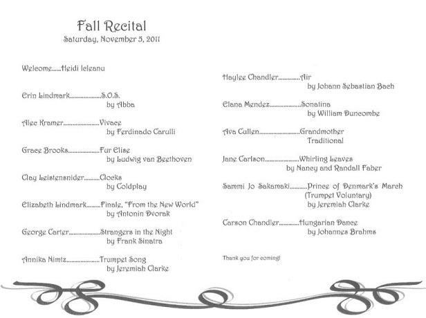 dance recital program ad templates