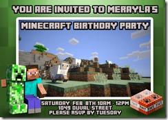 Merayla Birthday 2014 Invitation